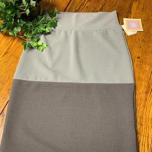 LuLaRoe Pencil Skirt Two Tone Green